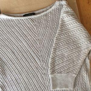 Silver White House Black Market sweater